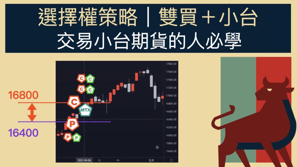 選擇權搭配期貨 雙買+小台 交易策略